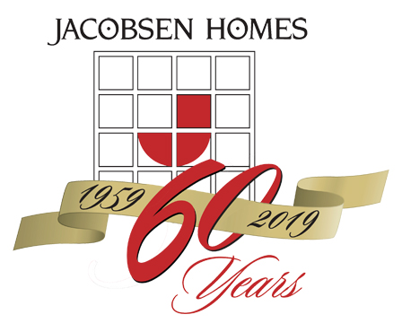 Jacobsen Homes 1959-2019 60 Years Anniversary Logo