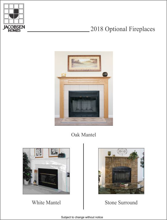 Optional Fireplaces 2015 Designs