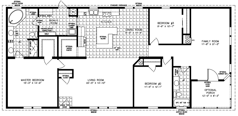 2085 Sq Ft Manufactured Home Floor Plan