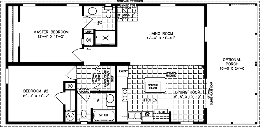 2403A Model FP?ext= 800 to 999 sq ft manufactured home floor plans jacobsen homes,2 Bedroom House Plans 800 Sqft