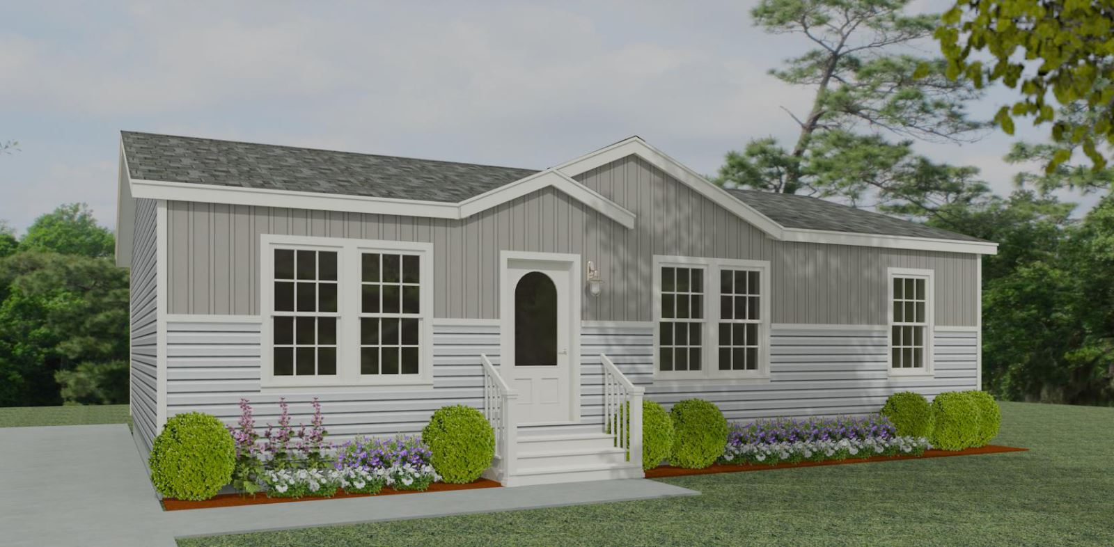 Exterior rendering Jacobsen homes floor plan model IMP-4447B