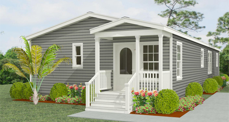 Exterior rendering Jacobsen Homes floor plan IMP-45212A with a front entry porch