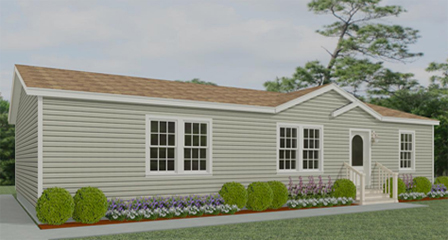 Rendering of a Jacobsen Home with a dormer and eyebrow