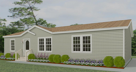 Exterior rendering Floor Plan IMLT-44818B with one dormer