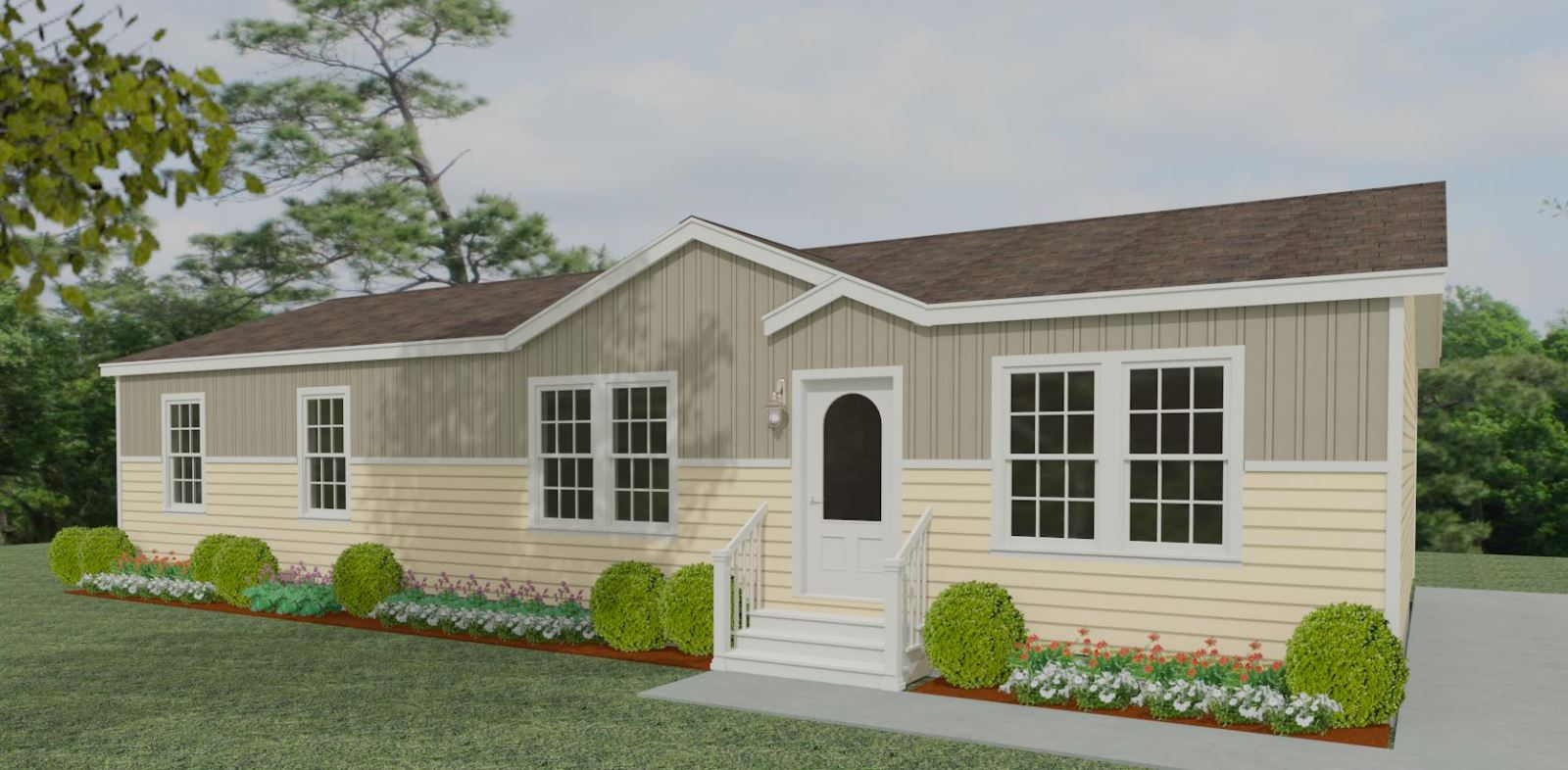 Exterior rendering Jacobsen Homes Floor Plan IMP-46411B