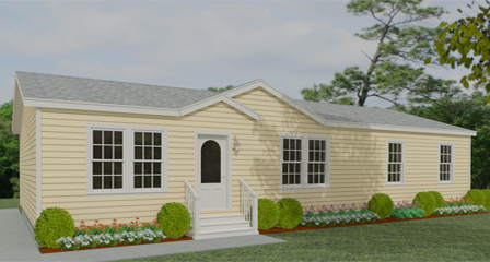Exterior Rendering Jacobsen Home Floor Plan TNR | 4568B