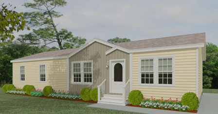 Exterior rendering Jacobsen Homes Floor Plan IMP-45618B with dormer and eyebrow