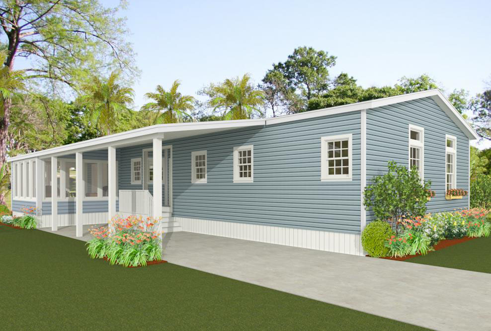 Exterior rendering of Jacobsen Home floor plan model IMP-2483A
