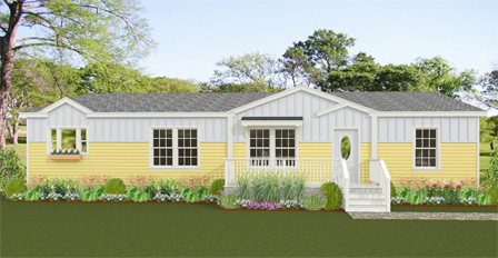 Exterior rendering of a Jacobsen Home with two dormers