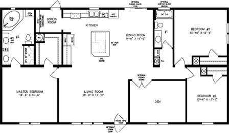 Three Bedroom Two Bath with Den