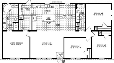 1840 Sq Ft Manufactured Home Floor Plan