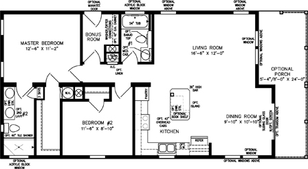 Two Bedroom Two Bath with Front Porch