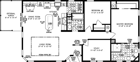 Two Bedroom Two Bath home with a Study