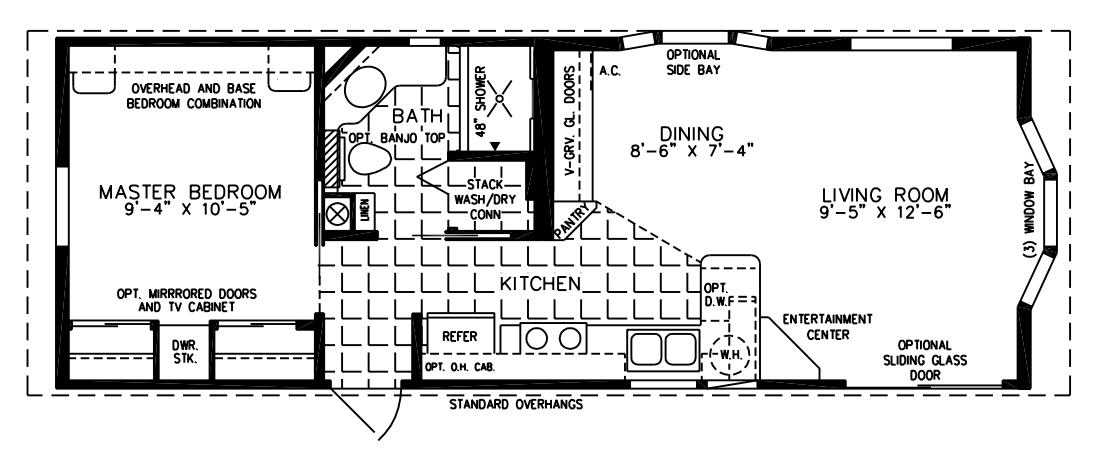 Small mobile homes small home floor plans for Free mobile home floor plans