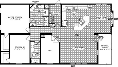 Two Bedroom, Two Bath Front living room and Dining Room