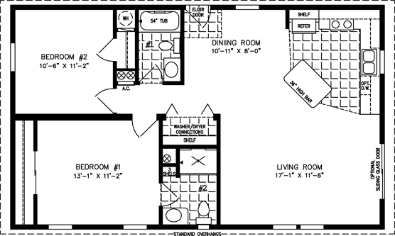 Imlt 3404a Fp Ext Manufactured Home Floor Plans On Design Your Own Manufactured
