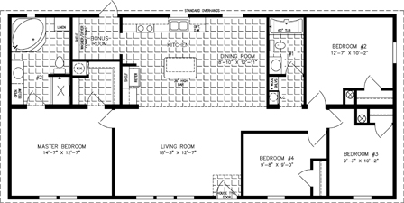 Four Bedroom Mobile Home Floor Plans | Jacobsen Homes on large modular home plans, large mobile home kitchens, 18' wide mobile home plans, large manufactured homes, clayton mobile homes floor plans, fema house floor plans, triple wide manufactured home plans, large custom modular homes, small modular homes floor plans,