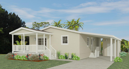 Exterior rendering of Jacobsen Home floor plan model IMLT-34411B