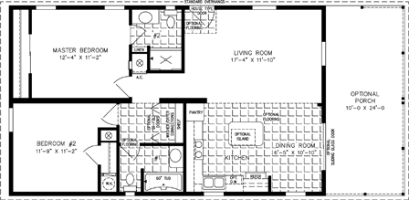 Two Bedroom Mobile Home Floor Plans | Jacobsen Homes on