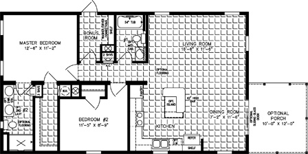 Two Bedroom, Two Bath Front Living room & Dining Room with half porch