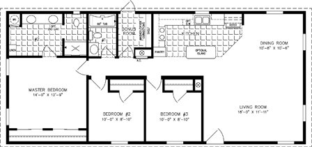 manufactured home Floor Plan: The Imperial | Model IMP-2541A  3 Bedrooms, 2 Baths