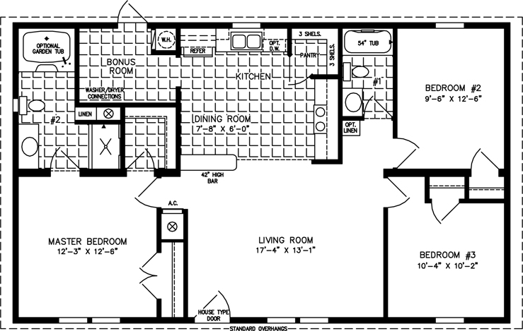1000 to 1199 Sq Ft Manufactured Home Floor PlansJacobsen Homes