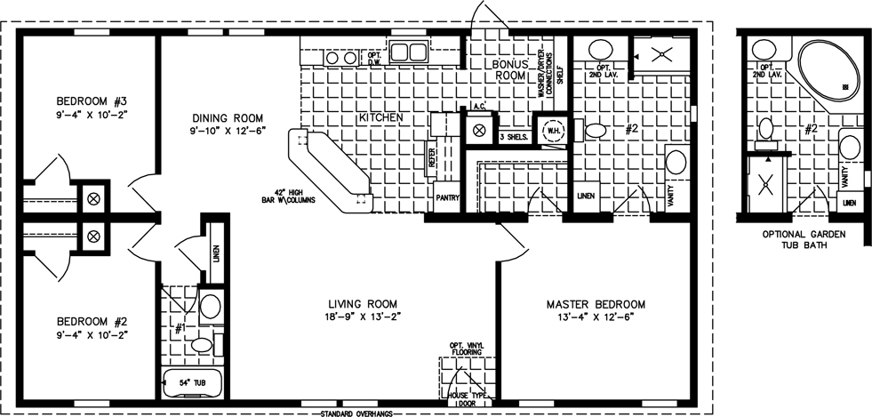 Manufactured Home Floor Plan: The Imperial U2022 Model IMP 44813B 3 Bedrooms,  ...