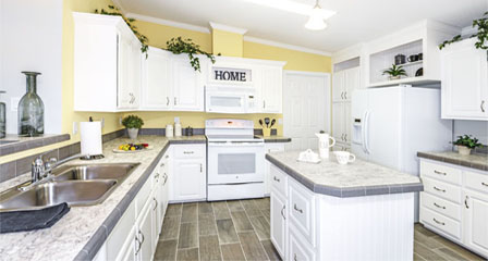 ... Updated Mobile Home Kitchen