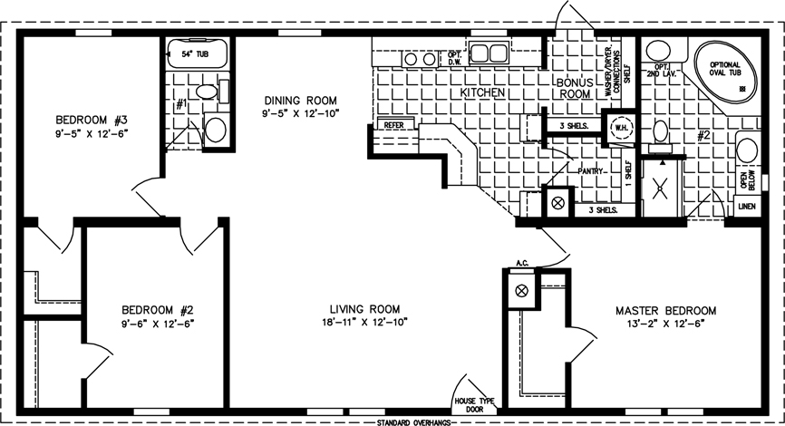the imperial imp 45211b manufactured home floor plan