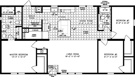 Three Bedroom Two Bath Split Plan with open Kitchen