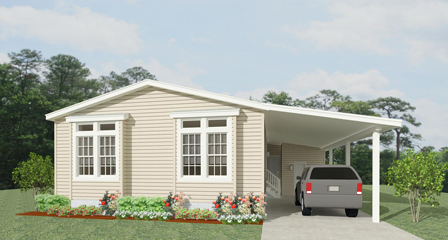 Rendering of a Jacobsen Home with carport
