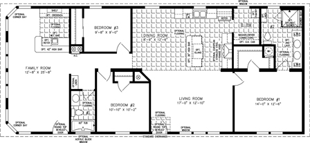 Manufactured Home Floor Plan: The Imperial | Model IMP-4623B-525  3 Bedrooms, 2 Baths