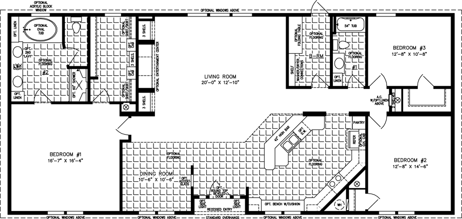 2000 sq ft and up manufactured home floor plans for Free mobile home floor plans