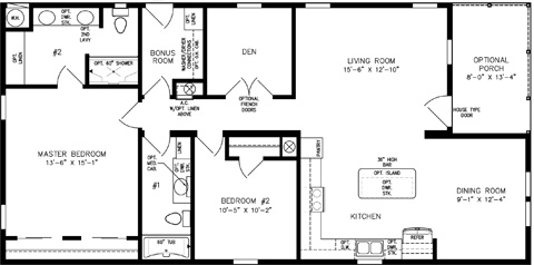 Two Bedroom with Den Open Kitchen