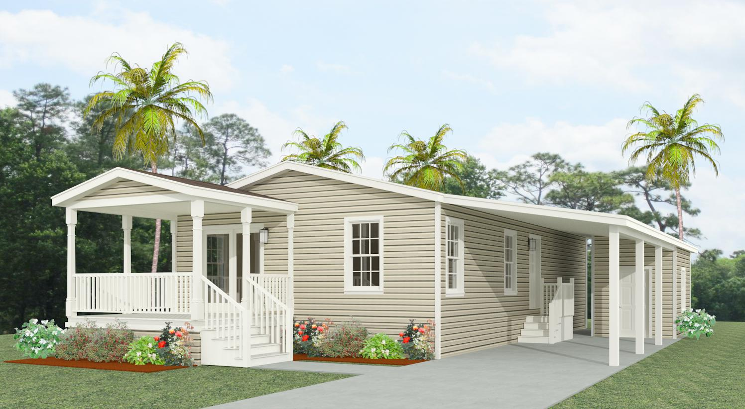 Exterior rendering of Jacobsen Home floor plan IMP-2421A