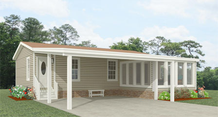 Exterior rendering of Jacobsen Home Floor Plan IMP-4364A