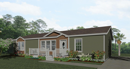 Rendering of the Jacobsen Home IMP-45214W with two dormers