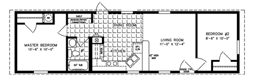 500 to 799 Sq Ft Manufactured Home Floor Plans Jacobsen Homes
