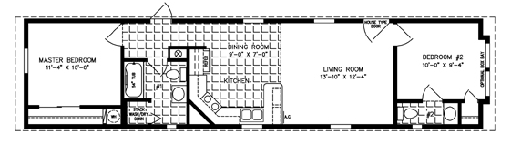 High Quality Manufactured Home Floor Plan: The Imperial U2022 Model ISW 4564 2 Bedrooms, ...