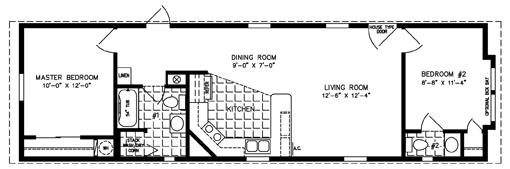 The imperial isww 4521 manufactured home floor plan for 500 sq ft modular homes