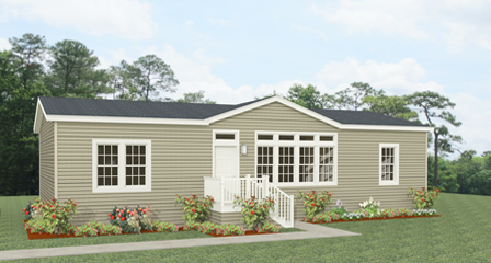 Rendering 3 Bedroom home with dormer