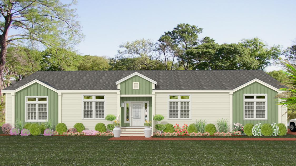 Exterior rendering Jacobsen Homes floor plan IMP-46821W