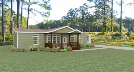 Rendering of a Jacobsen Home with a site built porch