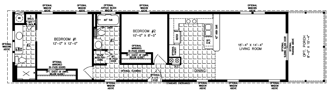 Floor Plan: The T N R • Model CP-2117-PM121123  2 Bedrooms, 2 Baths