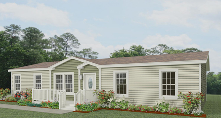 Exterior rendering Jacobsen Homes Floor with a dormer and eyebrow