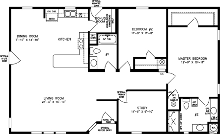 Two Bedroom Two Bath with Study