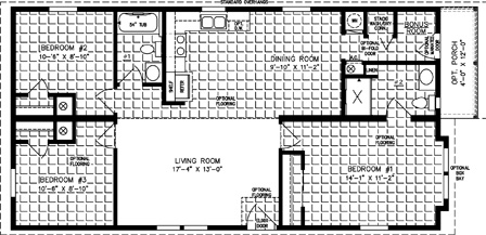 Manufactured home  Floor Plan: IMLT-4442A-739  3 Bedrooms, 2 Baths