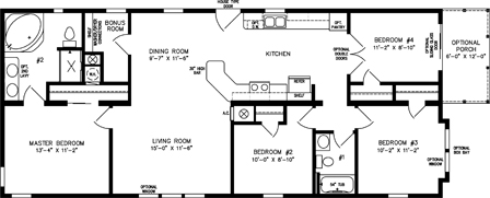 Four Bedroom, Two Bath with Front Porch