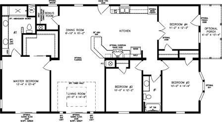 Four Bedroom, Two Bath with Galley Kitchen