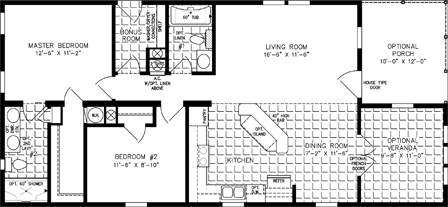 Two Bedroom Two Bath with half Veranda Room and Half Porch